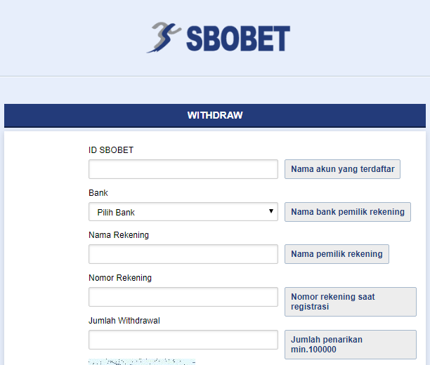 cara withdraw di agen sbobet